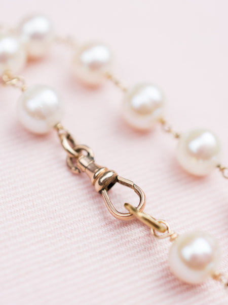 Vintage Gold-Fill Bracelet with Pearls