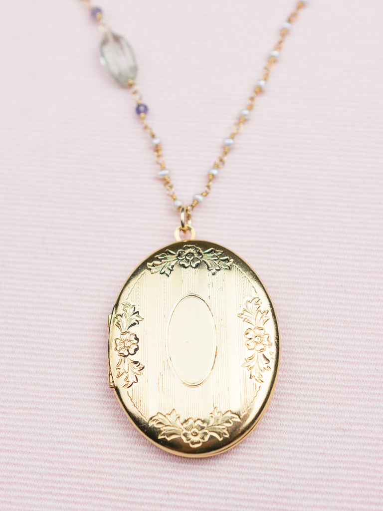 pre owned tiffany gold large us locket pendant luxury vintage pendants tone lxrandco en heart