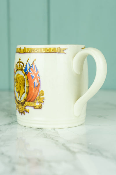 Vintage King George V and Queen Mary 1935 Silver Jubilee Mug