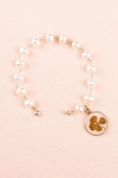 Antique Pressed Shamrock Pearl Bracelet