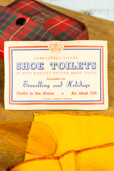 Vintage 1953 Coronation Shoe Shine Kit
