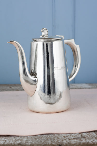 Vintage Silverplate County Hotel Canterbury Coffee Pot
