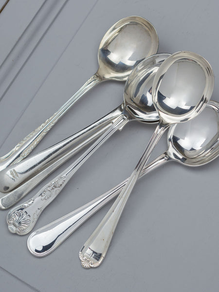 Vintage Silverplate English Soup Spoon