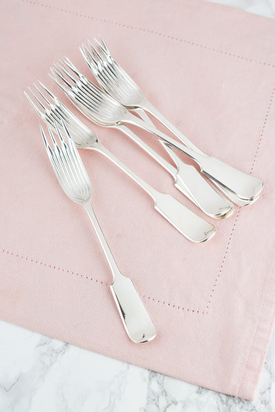 Antique Silverplate Pea Forks - Set of 6