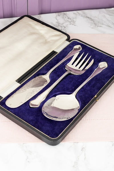 Antique Silverplate 3-piece Serving Set