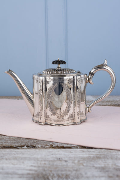 Victorian Silverplate Tea Pot