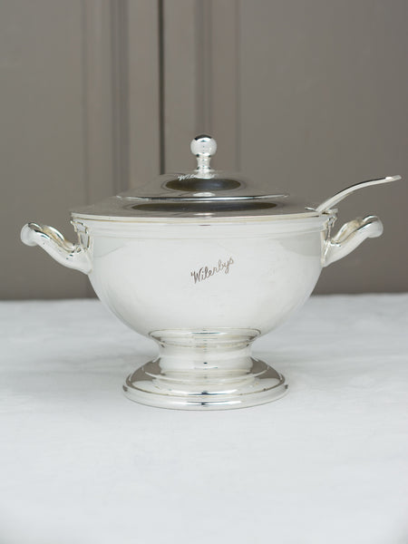 Vintage Silverplate Wilerbys Tureen with Ladle