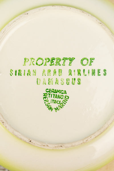 Vintage Syrian Arab Airlines Ashtray
