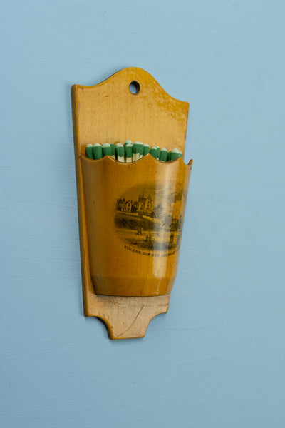 "Vintage French Match Holder ""Villers Sur Mer, Casino Et Villas"""