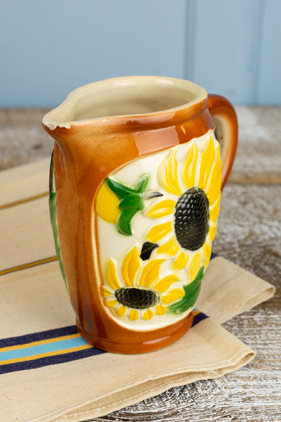 Vintage Sunflower Pitcher - Small