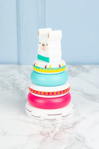 Wooden Llama Stacking Toy