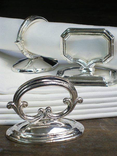 Silverplate Dome Handle Napkin Rings - Set of 6