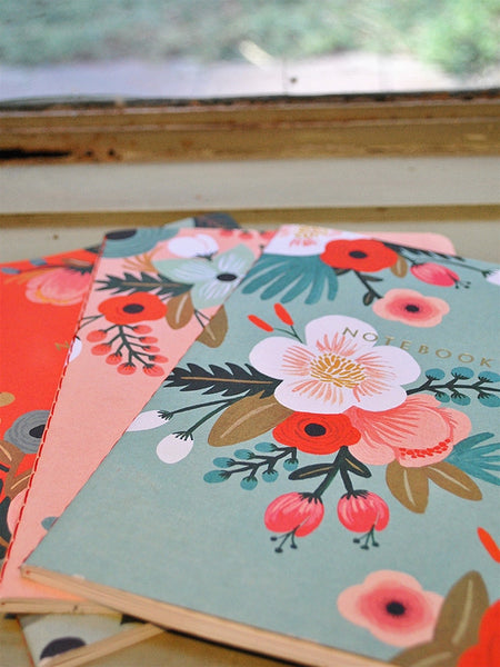 Floral Notebooks - Set of 3