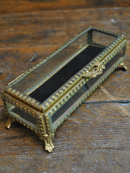 Long Beveled Glass Jewelry Box