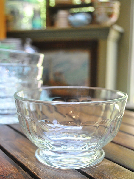 Footed Glass French Bowl