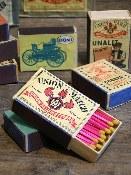 Vintage Belgian Matchboxes - set of 3