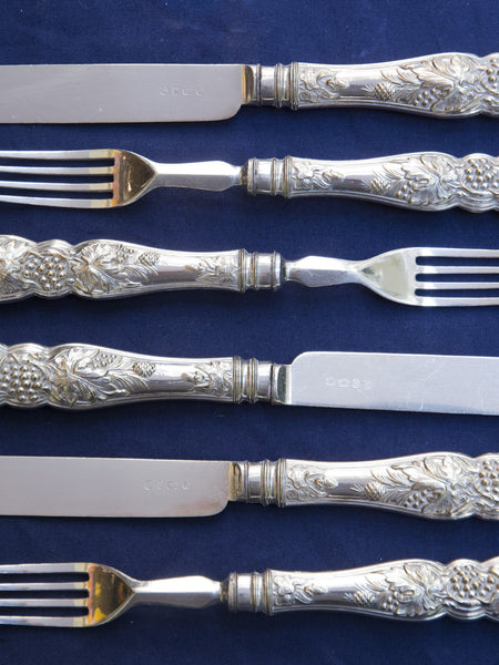 Victorian Silverplate Fruit & Dessert Service for 12