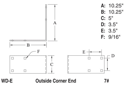 Outside Corner End