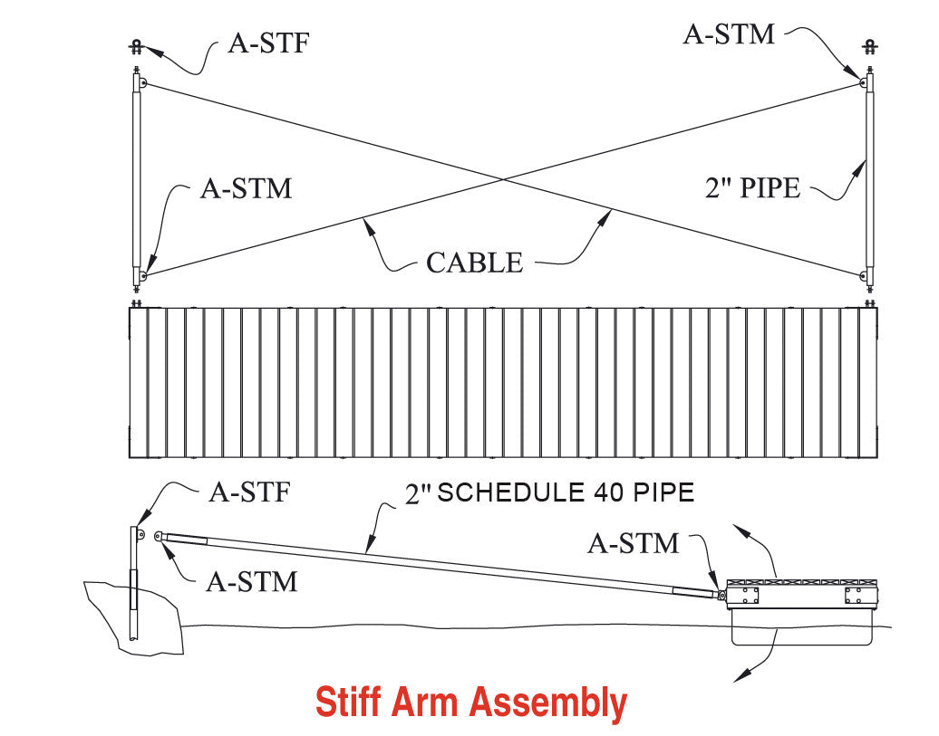 Stiff arm boat dock hardware american muscle docks fabrication stiff arm pooptronica