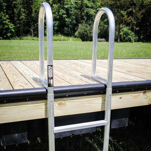 Straight Ladder - Hoop Handles - Boat Dock Accessories