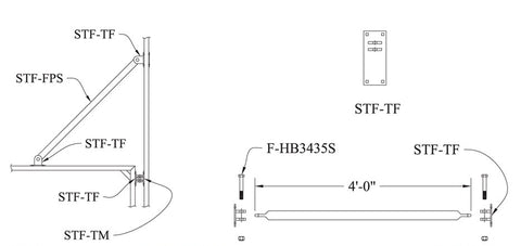 Steel Truss Finger Pipe Stabilizer