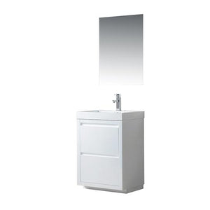 Vanity Art Single-Sink Bathroom Vanity With Resin Top, 24""