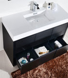 "KubeBath Bliss 48"" Black Free Standing Modern Bathroom Vanity"
