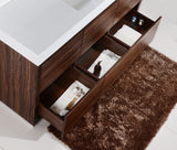 "KubeBath Bliss 60"" Single Sink Walnut Free Standing Modern Bathroom Vanity"