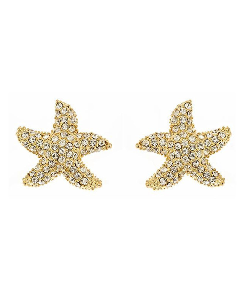 Large Gold Starfish Earring