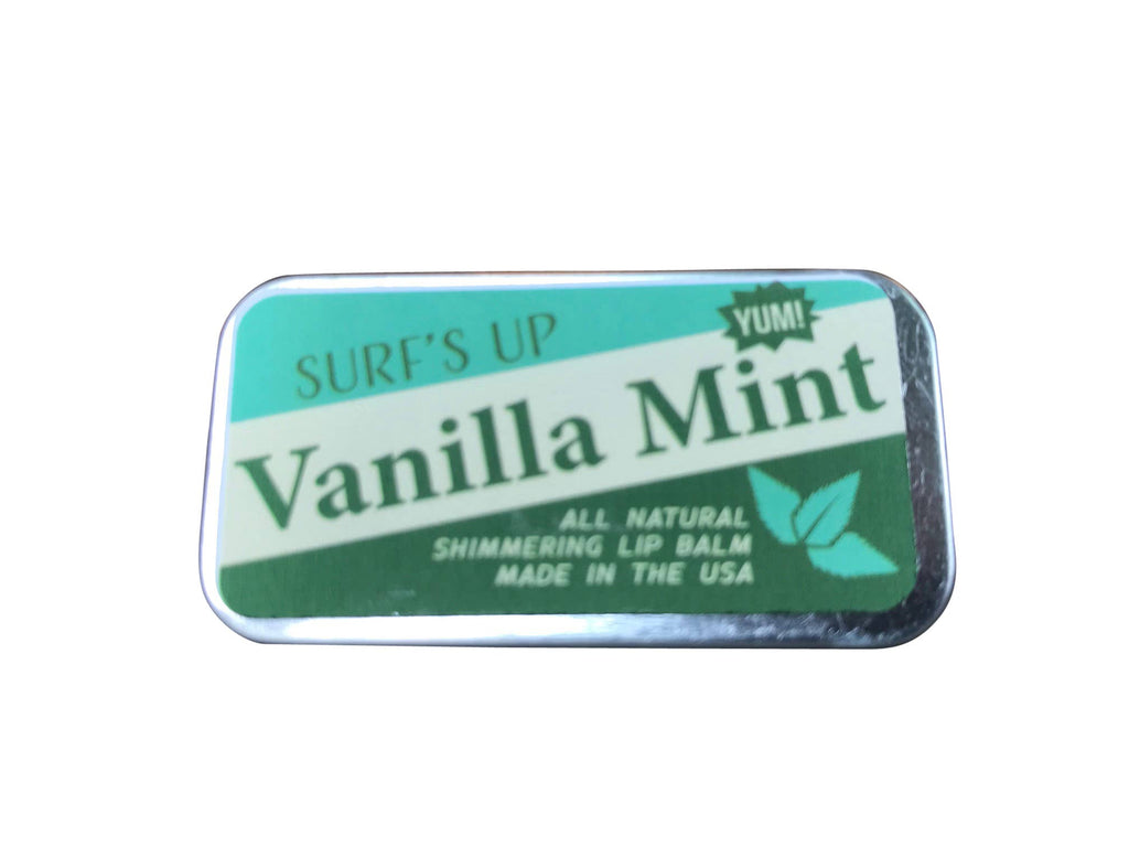 Surfs Up Candle - Vanilla Mint Shimmering Lip Balm Sliding Tin