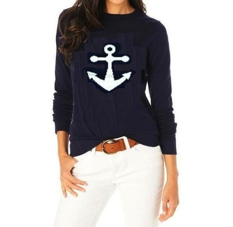 Favorite Nautical Anchor Sweater 5% cashmere