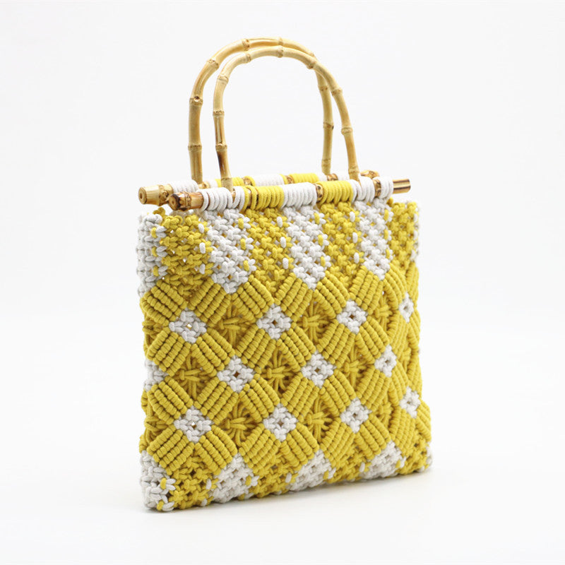 Urban Summer Yellow  Macramé tote