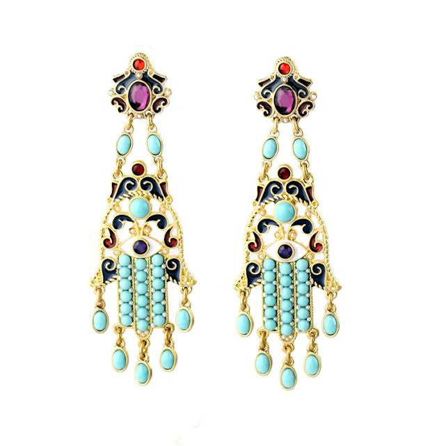 Gotta Hand it to you earrings - Pink Pineapple Shop