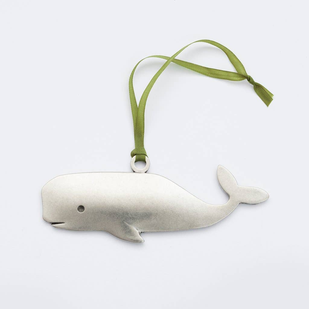 Handmade in RI - Whale Ornament-NPT