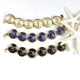 Anchor Button Bracelet