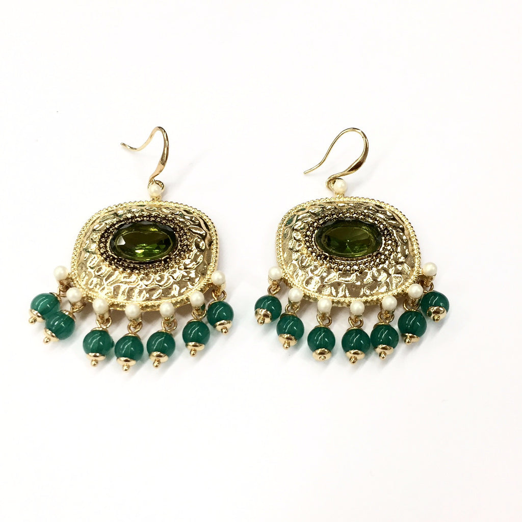 green goodness earring