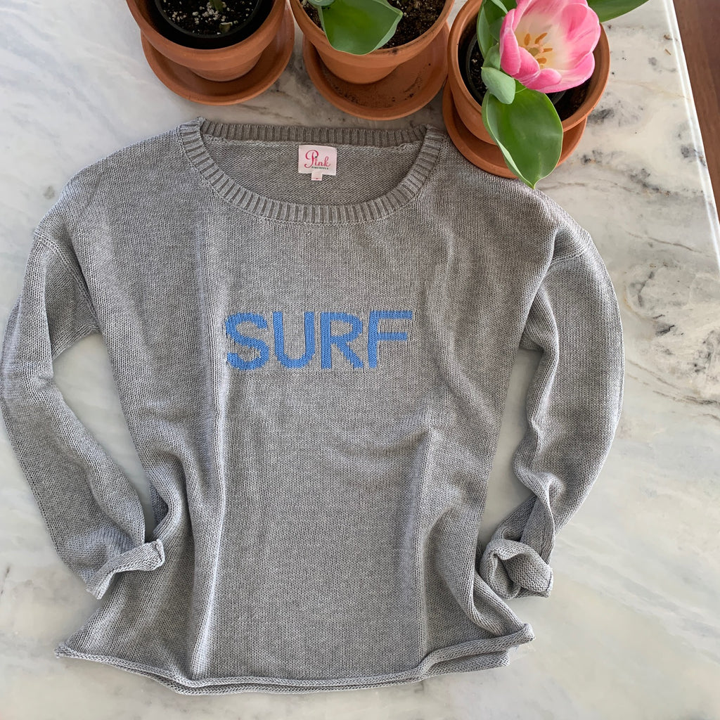 Gray SURF lightweight boxy sweater