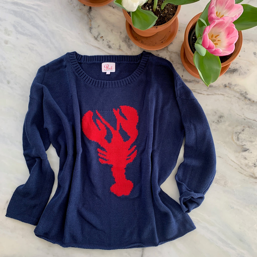 Lobster  lightweight boxy sweater