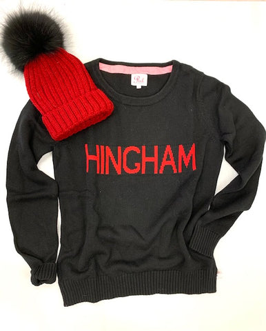 HINGHAM COTTON SWEATERS AND POM POM HAT