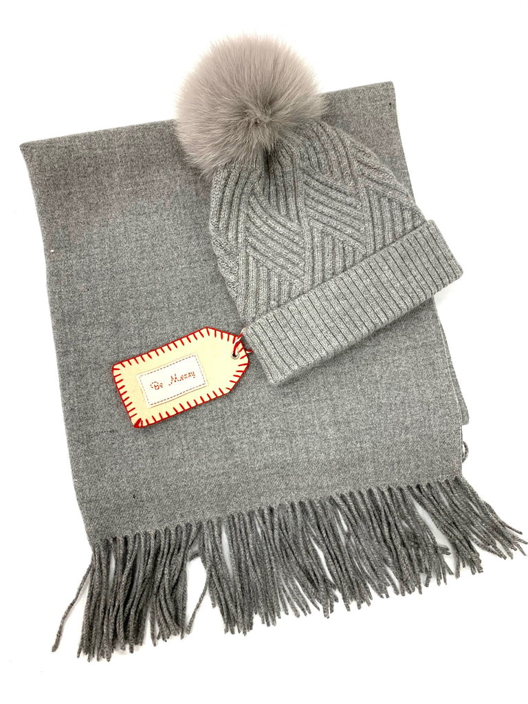 Lux Cashmere scarf and Hat sets ( FOUR color Ways)