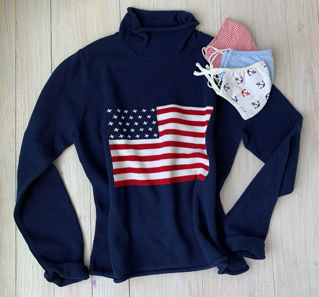 Flag rollneck sweater