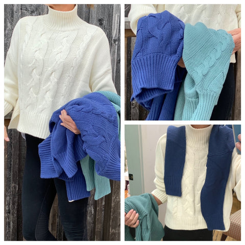 100% Soft Cotton Crop Boxy cable