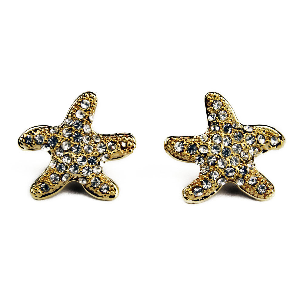 Small Starfish Earrings GOLD OR SILVER