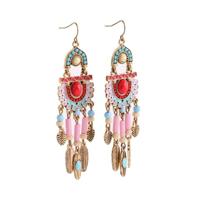 Dancing Aztec earrings - Pink Pineapple Shop