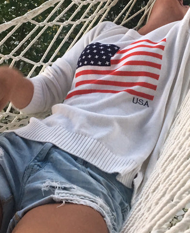 american flag sweater ivory products   pink pineapple shop  rh   pinkpineappleshop