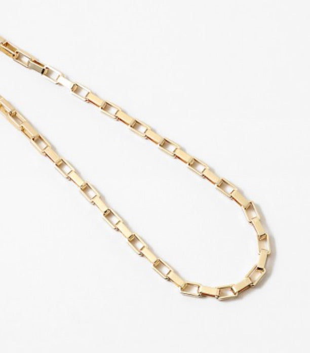 "15"" chunky box chain necklace"
