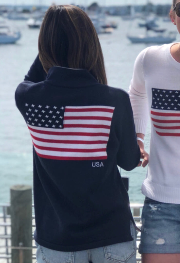 1/4 zip Flag sweater