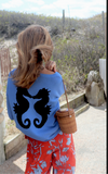 Kissing seahorse  lightweight boxy sweater (3 COLORS)