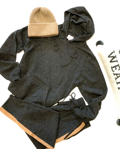 Ultimate Hoodie  LOUNGE jet set - 100% cashmere sweater and pant (Sold separately)