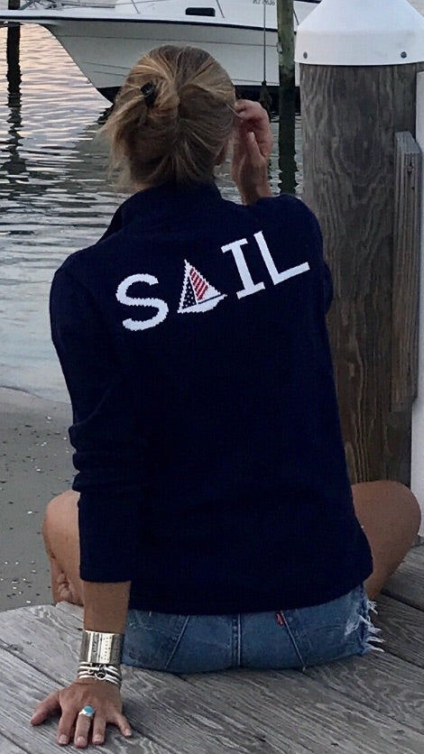 NEW 1/4 zip SAIL sweater